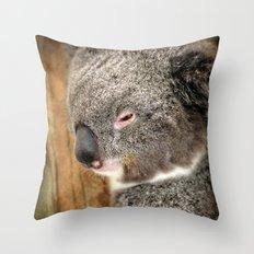 Sleepy Koala Throw Pillow