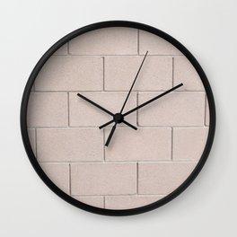 Brick Wall No. 3 Wall Clock