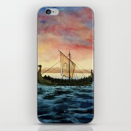 Drakkar, watercolor iPhone Skin