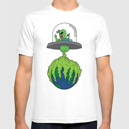 Part-time invader, full-time crop duster T-shirt