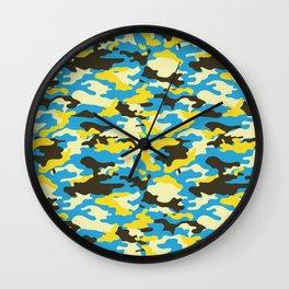 Fluor Camouflage #3 Wall Clock