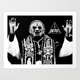 You Taste Like Death Pope Art Print