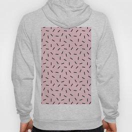 Postmodern Funfetti in Pink + Black Hoody