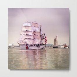 Tall Ships in Boston -USCG Metal Print