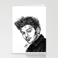 louis tomlinson Stationery Cards featuring Louis Tomlinson by Hollie B