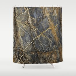 Natural Geological Pattern Rock Texture Shower Curtain