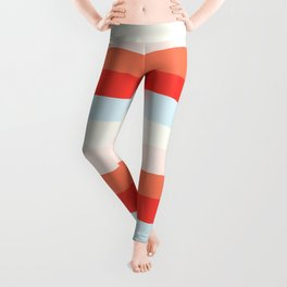 lumpy or bumpy lines abstract and colorful - QAB268 Leggings