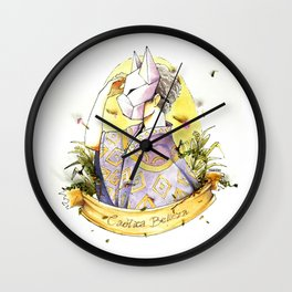 the boy behind the fox face mask Wall Clock