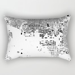 Washington Map Schwarzplan Only Buildings Rectangular Pillow