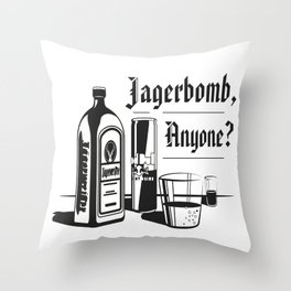 Jagerbomb, Anyone? Throw Pillow