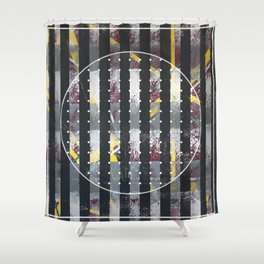 Polarized - dot circle graphic Shower Curtain
