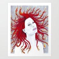 Rhapsody in Flames Art Print