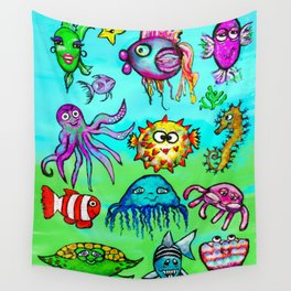Sea Life Sampler Wall Tapestry