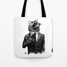 Dapper Raccoon Tote Bag