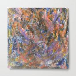 Dark Moods Brushstroke Abstract Metal Print