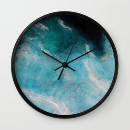 Deep blue ocean waves Wall Clock