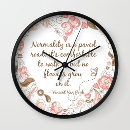 Normality Brown & Pink Wall Clock