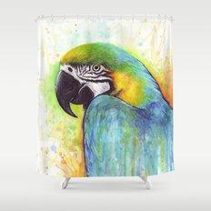 Bird Watercolor Animal Macaw Shower Curtain