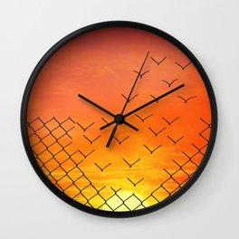 sunset escape Wall Clock