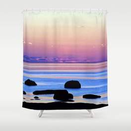 Remembering the Sunset Shower Curtain