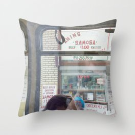 C-Train views Throw Pillow