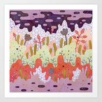 crystal Art Prints featuring Crystal Forest by LordofMasks