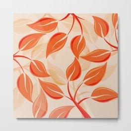 Harmony in Orange Metal Print