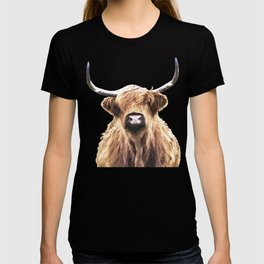 Highland Cow Portrait T-shirt