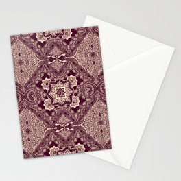 ornamental paisley with diamond Stationery Cards