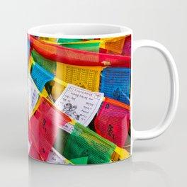 Colorful Tibetan prayer flags Coffee Mug