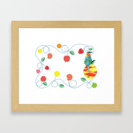 Kitchen bobo bird Framed Art Print