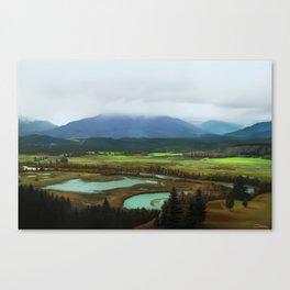 Rockies Landscape Painting Canvas Print