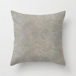 Scratched Metal Throw Pillow