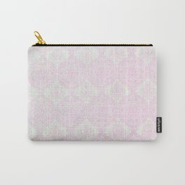 Vintage pastel pink white floral mandala pattern Carry-All Pouch