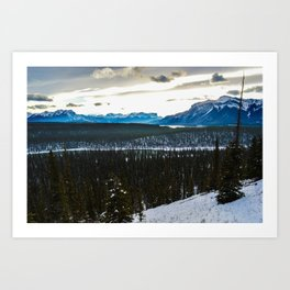 On route to Brule Alberta, Canada Art Print