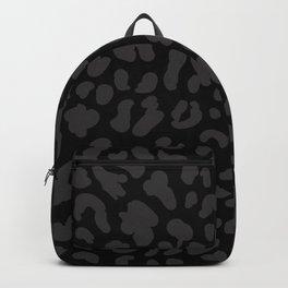Black & Dark Gray Leopard Print  Backpack