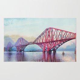 Forth Bridge, Scotland Rug