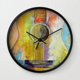 Guitar Melodies Wall Clock