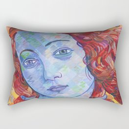 Variations On Botticelli's Venus - No. 3 (Primary Colors) Rectangular Pillow