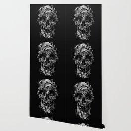 Jungle Skull B&W Wallpaper