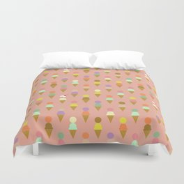 Ice Cream Cone Pattern Pink Robayre Duvet Cover