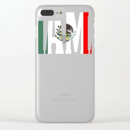 Mama Gift Mexican Design Mexican Flag Design For Mexican Pride Clean Clear iPhone Case