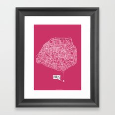 Spidermaps #1 Light Framed Art Print