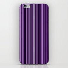 Purple stripes iPhone & iPod Skin