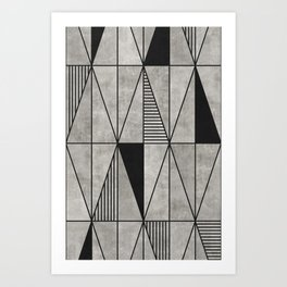 Concrete Triangles Art Print