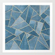 Dusk Blue Stone Art Print