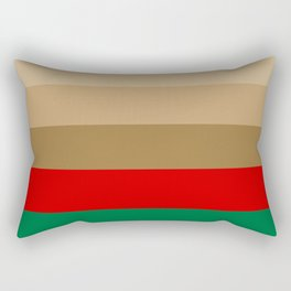 Coffee Irish Flavored Liqueur with Cream - Abstract Rectangular Pillow