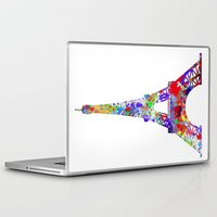 eiffel tower Laptop & iPad Skins featuring Eiffel Tower  by ron ashkenazi