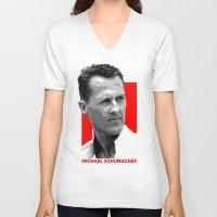 formula 1 V-neck T-shirts featuring Formula One - Michael Schumacher by Vehicle