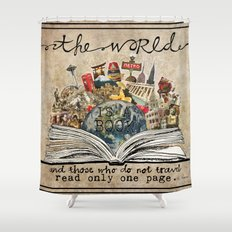 The World Is A Book Shower Curtain